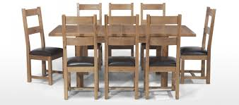 Dining Room Table And 8 Chairs Krauses Continental Solid Light Oak Extending Dining Table Rustic