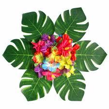 24 шт. <b>цветок</b> гибискуса и 30 шт. <b>искусственный тропический</b> ...