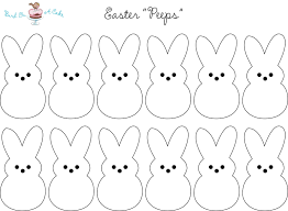 peeps printable holiday printables easter peeps templates