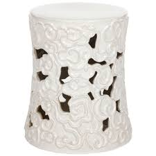 patio stool: cloud white garden patio stool defacab bdd   afad