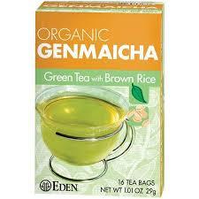 Eden <b>Organic Genmaicha</b> Green Tea with <b>Brown</b> Rice Tea Bags, 16 ...