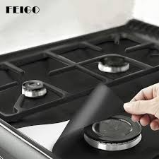 FEIGO Kitchen 0.12mm 0.3mm Thick <b>Gas Stove Cooker Protectors</b> ...