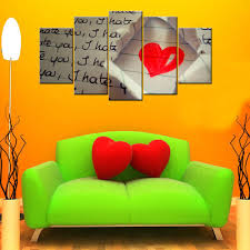 Giftscorner I Hate You Love <b>5 Piece</b> Canvas Wallart - <b>HD</b>, Size ...