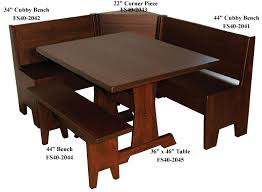 heritage corner breakfast nook set with rectangular table and bench corner bench kitchen amish corner breakfast nooks
