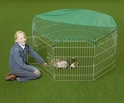 VivaPet Outdoor Octagon <b>Rabbit</b> Run <b>Cage</b> Pen with Sun <b>Protection</b> ...