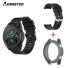 AKBNSTED 2 IN 1 Silicone <b>Watch Strap</b> + <b>Transparent TPU</b> Material ...