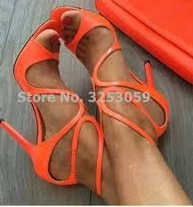 <b>ALMUDENA Women</b> Candy Color Orange Gold <b>Nude</b> Patent ...