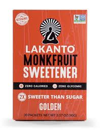 Lakanto <b>Monkfruit Sweetener</b> Packets, 1:1 <b>Sugar</b> Substitute, Keto ...