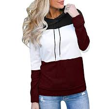 Onegirl Women's Fashion <b>Contrast Color</b> Long Sleeve Sweatshirt ...