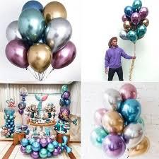 <b>Glossy Metal Pearl</b> Latex Balloons <b>Popular</b> Thick Chrome <b>Metallic</b> ...