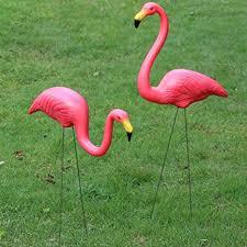 Yaheetech Pair of Garden Plastic <b>Flamingo</b> Ornaments Lawn Pond ...