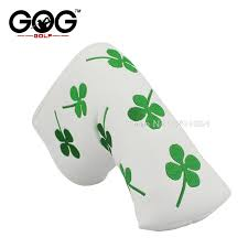 <b>New</b> golf putter <b>cover</b> headcover lucky grass <b>PU cover For</b> Blade ...