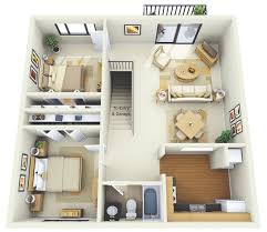 Two  quot   quot  Bedroom Apartment House Plans   Architecture  amp  Design  Summit Chase Apartment Two Bedroom Floor Plan