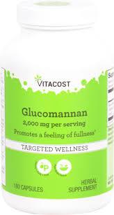 Vitacost <b>Glucomannan</b> - <b>Konjac Root</b> -- 2000 mg serving - 180 ...
