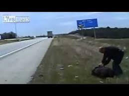 Cop shot in the face after motorist pulled over from liveleak - YouTube