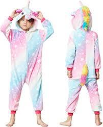 Colorful Unicorn Onesie Pajamas for Kids - Animal ... - Amazon.com