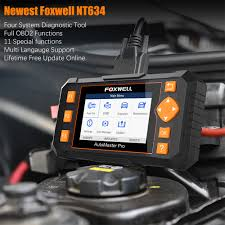 <b>Foxwell NT634 OBD2</b> Automotive <b>Scanner</b> Four System EPB Oil ...