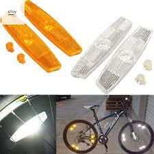 <b>1 Pair</b> Bicycle <b>Bike Wheel</b> Safety Spoke Reflector Sheet Mount Clip ...
