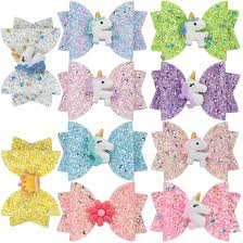 <b>1 PC Girls Glitter</b> Hair Bows Princess Hairpins Wing Hair Clips ...