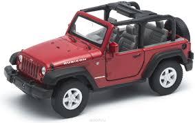 Welly Модель автомобиля Jeep Wrangler Rubicon цвет красный ...