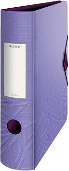 Leitz <b>180</b>° Active Urban <b>Chic</b> Lever Arch File, Violet, A4, Curved ...