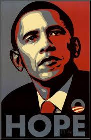 Barack Obama (Hope, Shepard Fairey Campaign) Art Poster Print Pohjustettu vedos - barack-obama-hope-shepard-fairey-campaign-art-poster-print