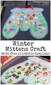 <b>Winter Mittens</b> Craft | Winter crafts for kids, Winter preschool, Toddler ...