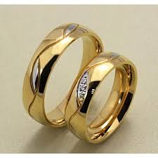 Couple's Couple Rings Band Ring Groove Rings Synthetic Diamond ...