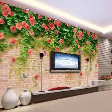 <b>Custom Mural Wallpaper 3D</b> Flower Design Fresco Papel De ...