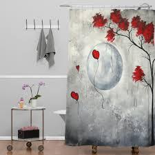 decor linen fabric multiuse: floral subtle curtain wayfair madart inc far side of the moon shower by deny designs