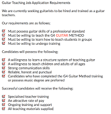 apply to teach guitar lessons horsham uk how to apply