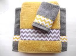 towel set towels yellow