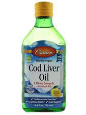 Carlson - <b>Wild Norwegian Cod Liver</b> Oil Natural Lemon Flavor