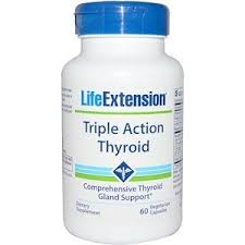 Life Extension, Triple Action Thyroid, 60 Vegetarian Capsules | Life ...