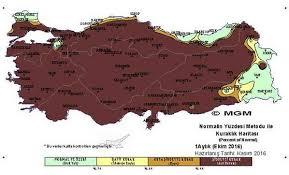 Meteoroloji'den kuraklık haritası