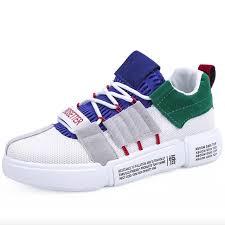 Men Shoes Men <b>Sneakers Fashion Breathable Mesh</b> Lace-Up Flats ...