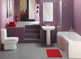 popular cool bathroom color: bathroom best purple bathroom color ideas with red accent of area rug bathroom paint