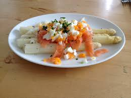 Image result for witte asperges met salmon