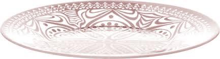 """<b>Тарелка десертная Pasabahce</b> """"<b>Boho</b> """", цвет: розовый, диаметр ..."""