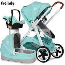 Coolbaby <b>High landscape stroller Two-way</b> shock absorber stroller ...