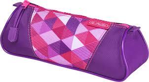 <b>Herlitz Пенал</b>-<b>косметичка Triangular</b> Pink Cubes, 50021123 ...