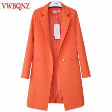 2019 <b>Spring Autumn New</b> Women's Long Coat Slim <b>Elegant</b> Blazer ...