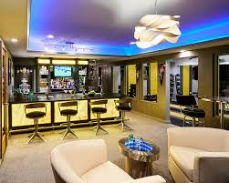 gym lighting design basement contemporary with black countertops led lighting black countertops basement lighting design