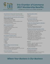 home erie chamber of commerce co 2017 membership benefits