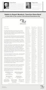 kenny s sideshow international extortion remembrance day full page ad in the wsj