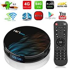 Android 9.0 TV Box,<b>2020</b> HK1 MAX 4GB RAM 64GB ROM RK3318 ...