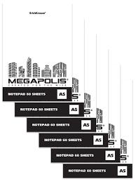 <b>Блокнот на клею</b> MEGAPOLIS Blanc (в плёнке по 6 шт ...