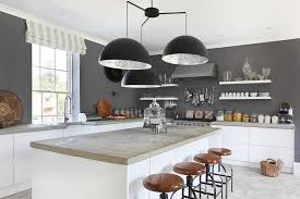 kitchen pictures modern smith  giant chandelier above the kitchen counter steals the spotlight here