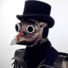 Brown PU Leather Vintage <b>Steampunk Plague</b> Bird Mask <b>Halloween</b> ...