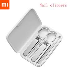 <b>5pcs Xiaomi Mijia Stainless</b> Steel Nail Clippers Set Trimmer ...